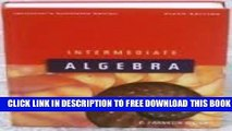 Collection Book Intermediate Algebra, 6th Edition