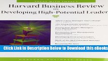 [Reads] Harvard Business Review on Developing High-Potential Leaders Online Ebook