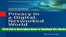 [Reads] Privacy in a Digital, Networked World: Technologies, Implications and Solutions Online Books