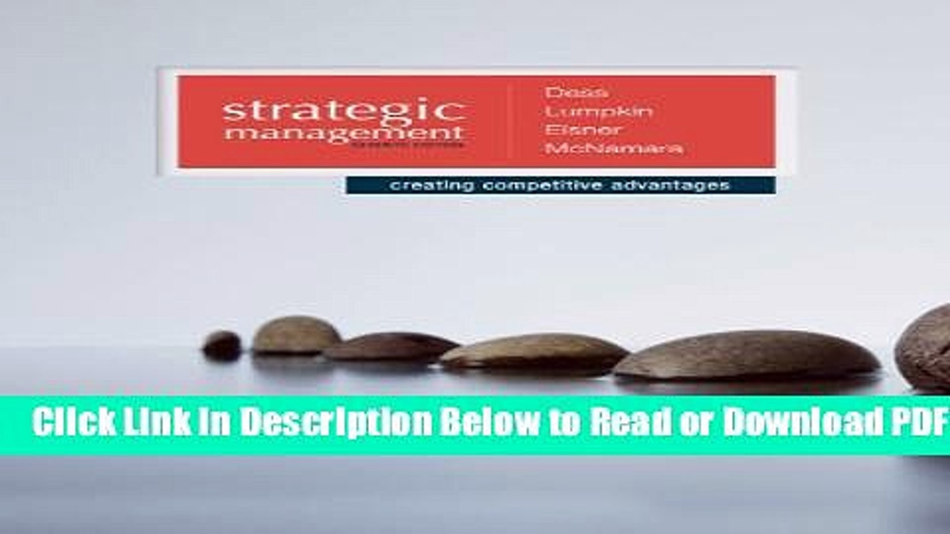 [PDF] Strategic Management: Creating Competitive Advantages Free Online