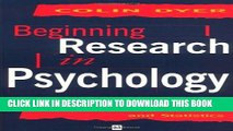 [PDF] Beginning Research in Psychology: A Practical Guide to Research Methods and Statistics Full