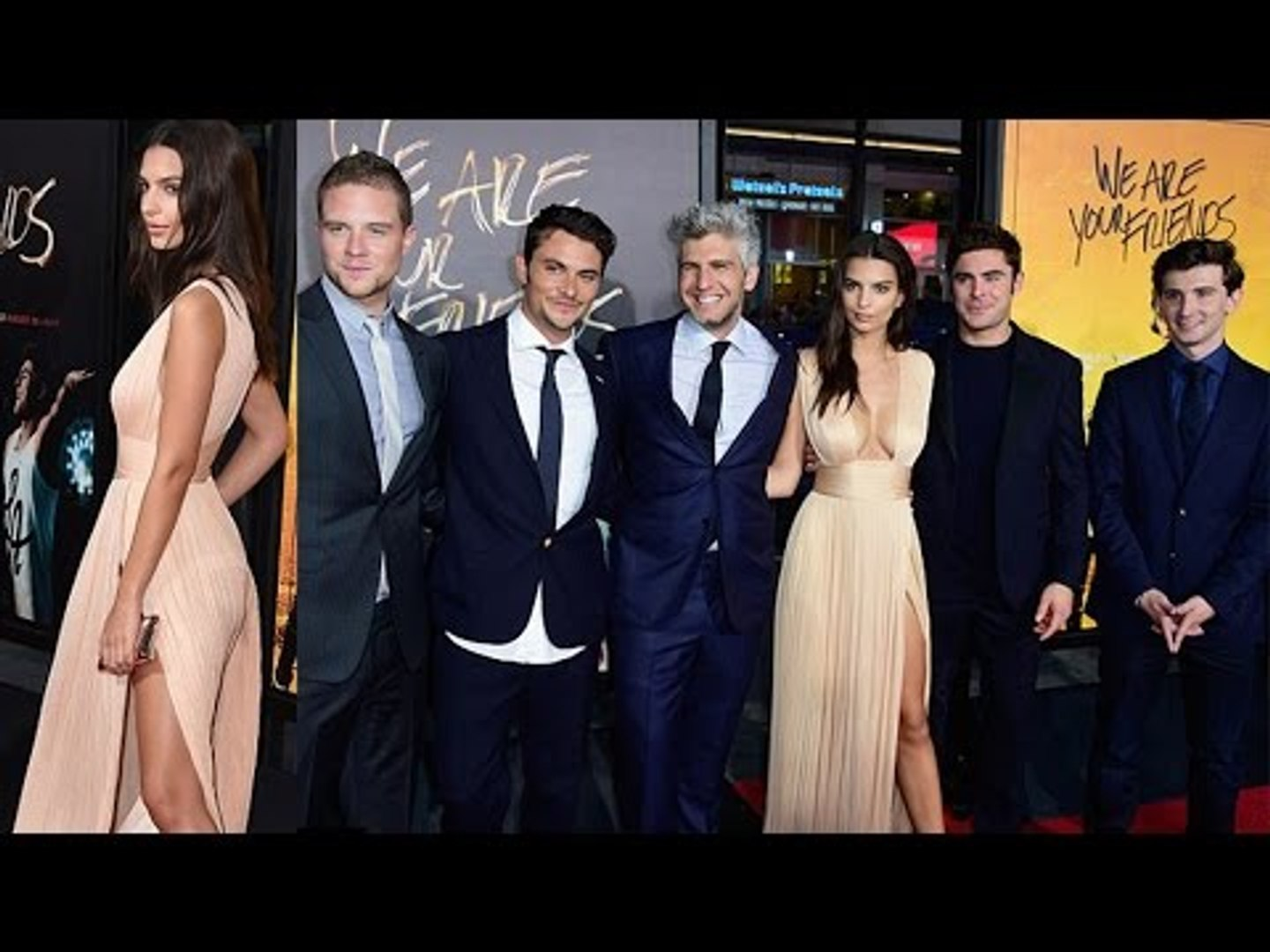 Emily Ratajkowski Shows Ample CLEAVAGE At 'We Are Your Friends' Premiere