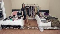 Comment mettre 100 objets dans une petite valise