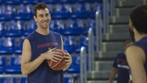 FCB Basket: Victor Claver's first training session with FC Barcelona
