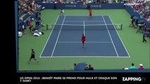 US Open 2016 : Benoît Paire se prend pour Hulk et déchire son t-shirt (vidéo)
