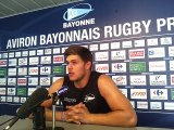 Aviron Bayonnais : Pierre Gayraud en conférence de presse avant Pau-Bayonne