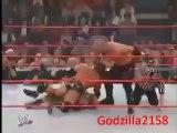 WWE Kane vs. Goldberg vs. Triple H (Armageddon 2003) Highlights