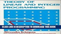 [PDF] Theory of Linear and Integer Programming [Online Books]