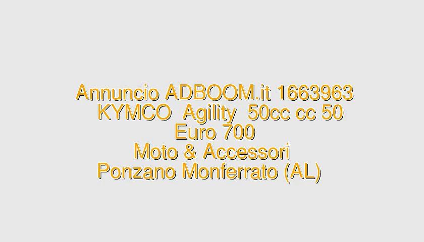 KYMCO  Agility  50cc cc 50