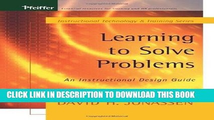 Pdf Learning To Solve Problems An Instructional Design Guide Popular Colection Video Dailymotion
