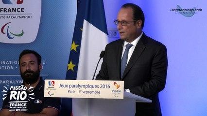 Discours du Président de la République M. François Hollande - Jeux Paralympique Rio 2016