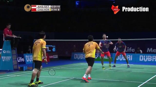 Best Smash And Defense of Mohammad Ahsan_Hendra Setiawan - Dubai World Superseries Finals 2015