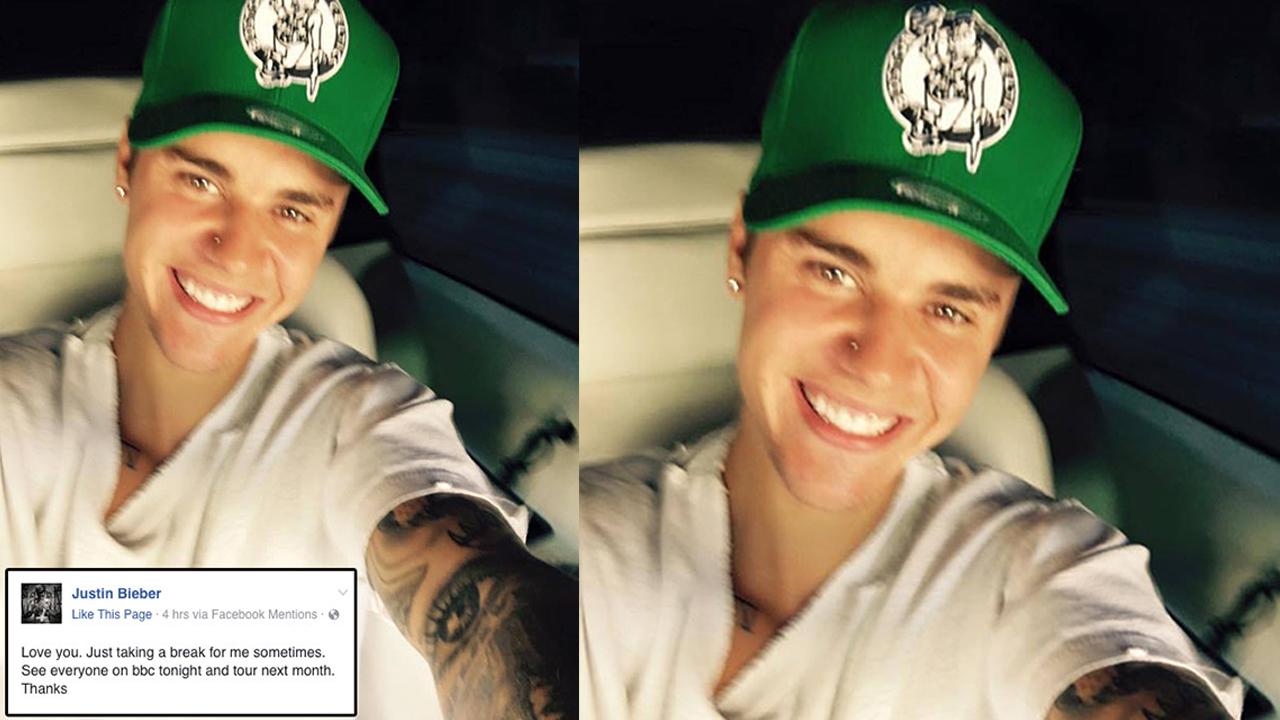 Justin Bieber Confirms He's 'Taking A Break' In Super Happy Selfie