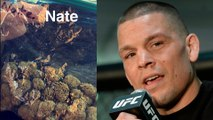 Nate Diaz Shows Bag Of Weed, Says He's Beat Conor McGregor at UFC 202