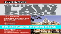 New Book Guide to Law Schools (Barron s Guide to Law Schools)