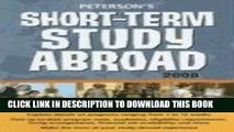 New Book Short-Term Study Abroad 2008 (Peterson s Short-Term Study Abroad Programs)