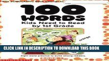[PDF] 100 Words Kids Need to Read by 1st Grade: Sight Word Practice to Build Strong Readers