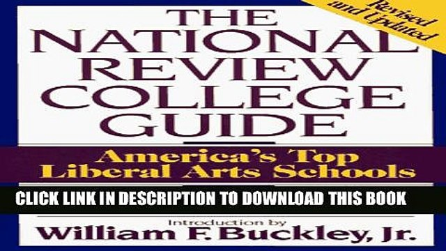 Collection Book National Review College Guide: America s Top Liberal Arts Schools