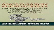 Collection Book Anglo-Saxon Manuscripts: A Bibliographical Handlist of Manuscripts and Manuscript