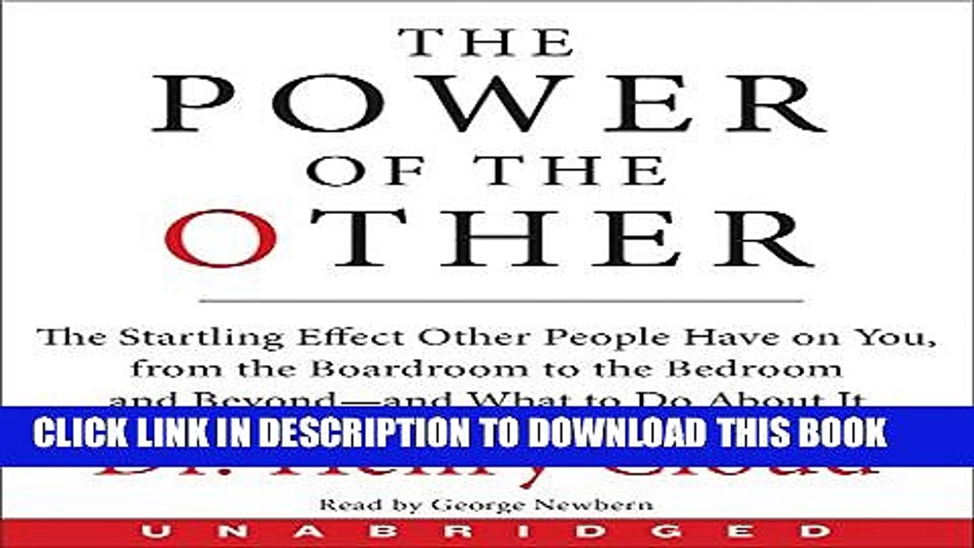 New Book The Power of the Other CD: The startling effect other people have on you, from the
