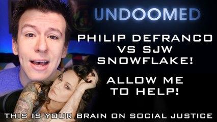 Philip DeFranco vs SJW Snowflake. Allow me to help!