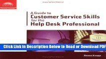 [Get] A Guide to Customer Service Skills for the Help Desk Professional Popular New