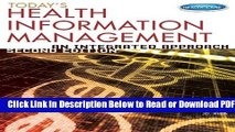 [Get] Today s Health Information Management: An Integrated Approach Popular Online