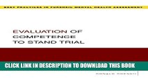 Collection Book Evaluation of Competence to Stand Trial (Best Practices in Forensic Mental Health