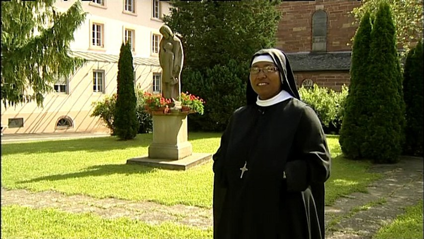 Sr Raphaelia, bénédictine adoratrice de Bellemagny