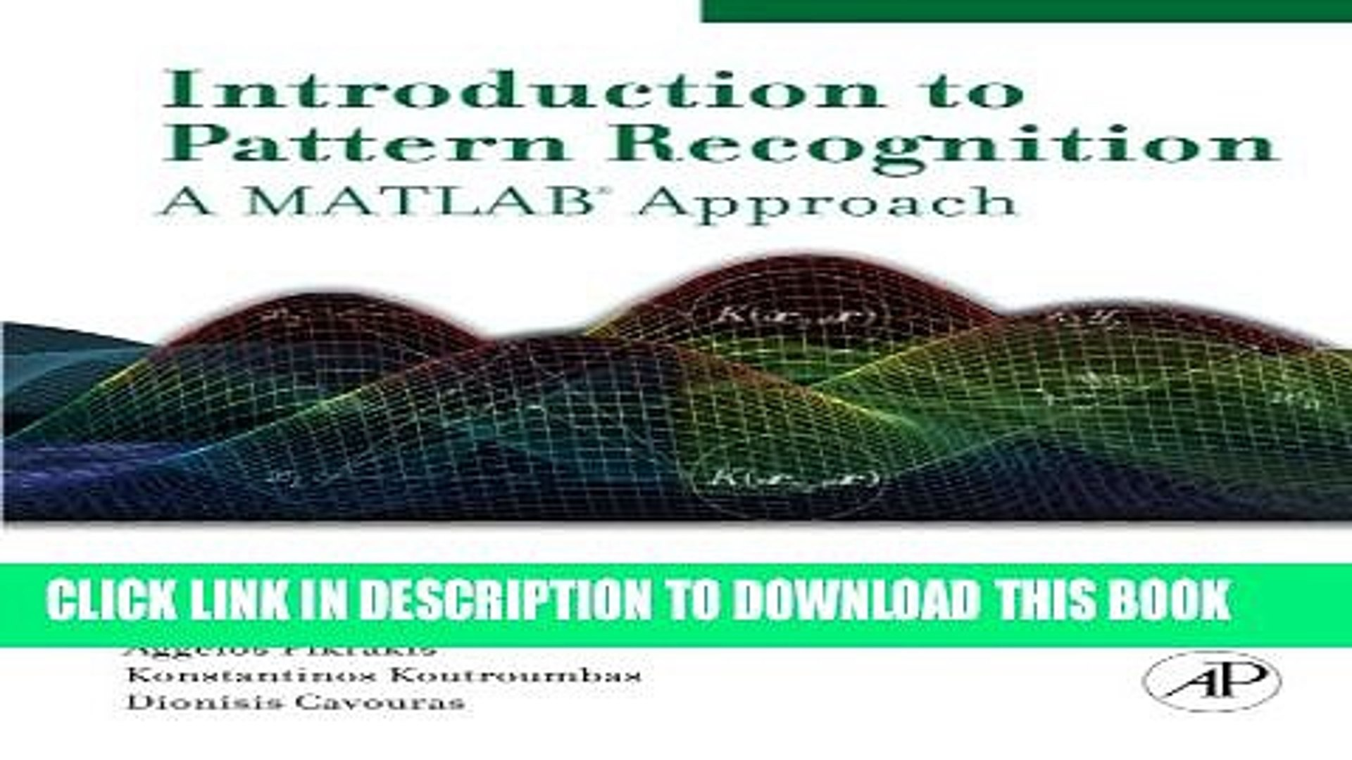 [PDF] Introduction to Pattern Recognition: A Matlab Approach Full Collection