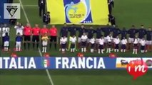 Le gardien Italien Buffon applaudit pendant l'hymne français et fait taire les supporters italien qui sifflaient!
