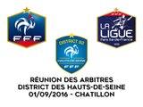 DISTRICT DES HAUTS-DE-SEINE DE FOOTBALL - Réunion des Arbitres - 01/09/2016
