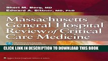 [PDF] Massachusetts General Hospital Review of Critical Care Medicine Popular Colection
