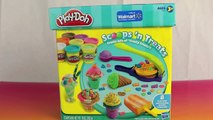 Play Doh Scoops N Treats Ice Cream Cones, Popsicles, Scoops, Sundaes and Play-Doh Waffle Cones