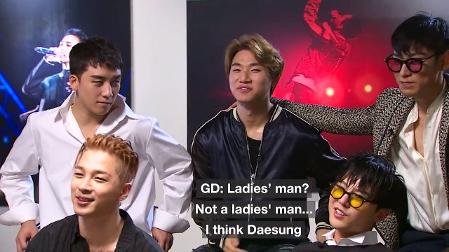 [ENGSUB] 빅뱅 BIGBANG ~ Who is the ladies' man? -- CNN