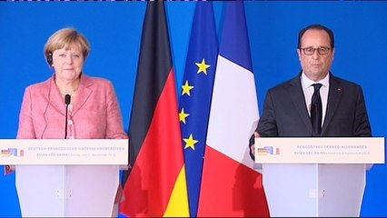 REPLAY. Revoir l'allocution de François Hollande et Angela Merkel depuis Evian-les-Bains