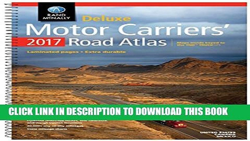 [PDF] Rand McNally 2017 Deluxe Motor Carriers  Road Atlas (Rand Mcnally Motor Carriers  Road Atlas