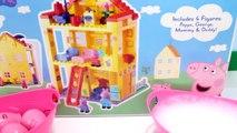 Peppa Pig Toys HOUSE CONSTRUCTION SET   Peppa SURPRISE EGG NOSES Bubble Bath Surprises Toypals.tv