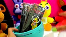 Five Nights At Freddys Plush & Surprise Playdoh Egg & 3 FNAF Blind Bag Box