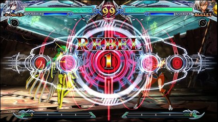 BlazBlue: Chrono Phantasma Extend Nu-13 vs Bullet review footage by Classic Game Room