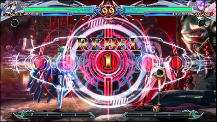 BlazBlue: Chrono Phantasma Extend Nu-13 vs Amane-Nishiki review footage by Classic Game Room