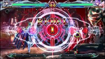 BlazBlue: Chrono Phantasma Extend Nu-13 vs Amane-Nishiki review footage by Classic Game Room