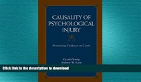 FAVORITE BOOK  Causality of Psychological Injury: Presenting Evidence in Court  PDF ONLINE