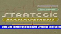 [PDF] Strategic Management: Strategists at Work Free Ebook