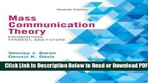 [Get] Mass Communication Theory: Foundations, Ferment, and Future, 7th Edition Free New