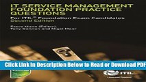 [PDF] IT Service Management Foundation Practice Questions: For ITIL Foundation Exam Candidates