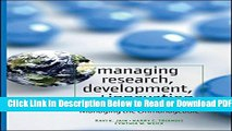 [Get] Managing Research, Development and Innovation: Managing the Unmanageable Popular New