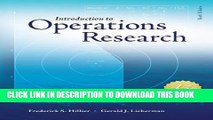 [PDF] Introduction to Operations Research with Access Card for Premium Content Popular Online
