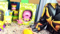 63 Surprise Play-doh TOY Eggs! Disney MLP McDonalds Domo Hello Kitty Shopkins Cars2 HobbyKids