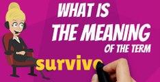 What is SURVIVOR GUILT? What does SURVIVIOR GUILT mean? SURVIVOR GUILT meaning, definition, explanation & pronunciation